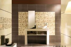 Bathroom wall tiles laying design