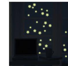 100pcs 3cm Home Wall Sticker Ceiling Glow In the Dark Stars Glow Sticker for Kids Bedroom Decoration