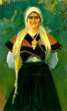 Asturian girl,   Joaquín Sorolla