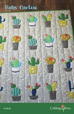 Sewing Quilts Looking for your next project? You're going to love Baby Cactus Quilt Pattern by designer Cabbage Rose Quilts. Quilting Projects, Quilting Designs, Sewing Projects, Sewing Crafts, Patchwork Designs, Quilting Ideas, Quilting Templates, Diy Crafts, Patchwork Patterns