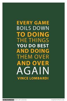 """""""Vince Lombardi Quote on Print. See more at www.finesportsprints.com #lombardi #sportsquote #packers"""""""