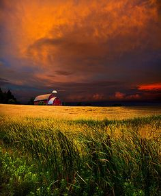 Country Barn On The Plains