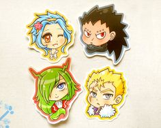 Fairy Tail Sticker Pack: Cute Anime Stickers #fairytail #fairy #gajeel #levy…
