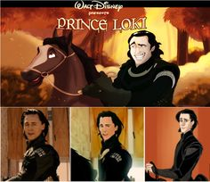 Whoever did this was a genius. Since Disney technically owns Marvel.....and Loki is the Prince of Asgard....