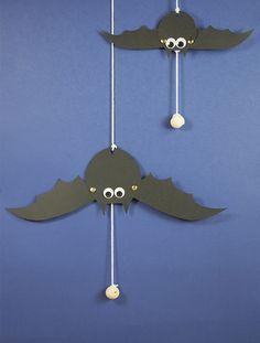 activit manuelle pour halloween fabriquer une chauve souris articule