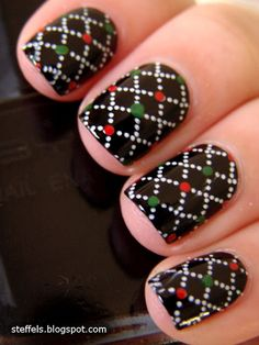 Adding color with a dotting tool to basic nail stamp
