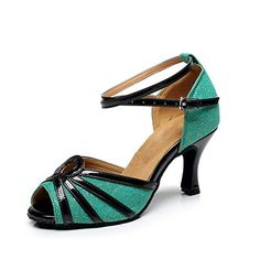BCLN Womens Open toe Sandals Latin Salsa Tango Heels Practice Ballroom Dance Shoes with 275 HeelBlue PU11 BM US ** Read more  at the image link. (This is an Amazon affiliate link)