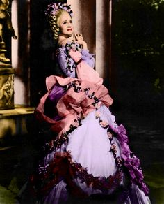 """Ooooh, what a lovely find! Thanks tomothgirlwings:  Norma Shearer in""""Marie Antoinette"""", 1938"""