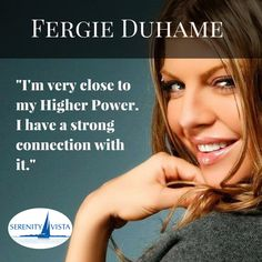 #fergie you are our favorite pea! Thanks for sharing your sobriety with us