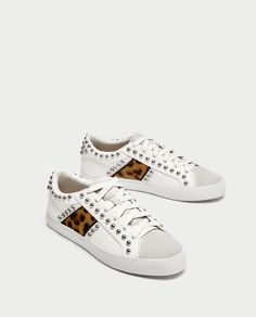 PRINTED PLIMSOLLS WITH STUDS-View all-SHOES-WOMAN | ZARA United States