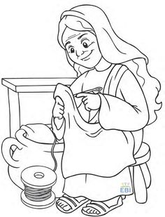 1000 Images About Dorcas On Pinterest Daughters Dorcas Coloring Page