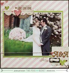 wedding scrapbook page by shimelle laine @ shimelle.com