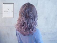パールラベンダーのグラデーションカラー⭐️ 8/20〜23日まで夏季休暇を頂きますのでご了承下さい @shachu_hair #shachu#hair#ヘアカラー