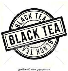 Black Tea rubber stamp