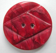 Art Deco Marbled Wine Red Casein Button | eBay