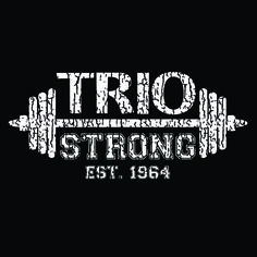 #TRIO Strong distressed imprint on black tee