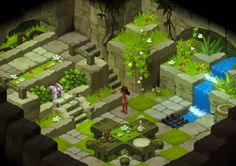 This isometric style is really good for adventure / puzzle games, I like how it's been laid out