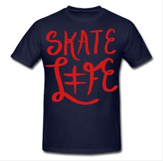 'Skate Life' Tee  - http://respiteclothingco.spreadshirt.com/men-s-heavyweight-t-shirt-A12645308/customize/color/4    #skatelife #skateboarding #tee #tshirt #summer #hiphop #respite #breathe #design #fashion #mens #guys #clothing