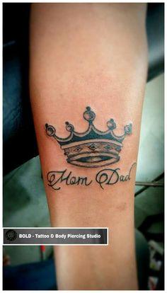 Mom Dad with Crown Tattoo