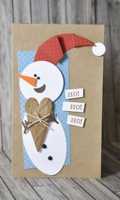 Snowman circle 2 Source by Christmas Arts And Crafts, Homemade Christmas Cards, Xmas Crafts, Homemade Cards, Childrens Christmas, Kids Christmas, Winter Cards, Holiday Cards, Creative Cards