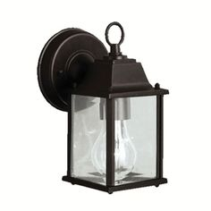 Portfolio Barrie 8 1 2 In H Black Outdoor Wall Light Lowes
