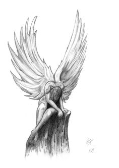 Gothic Drawings, Fairy Drawings, Badass Drawings, Sketches, Angel Drawing, Drawing Sketches, Art, Art Sketches, Dark Art Drawings