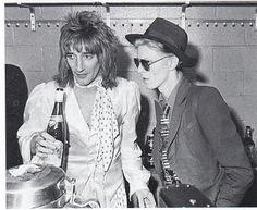 Rod Stewart and David Bowie, 1975