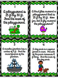 Design a Park Project & Task Cards- Area and Perimeter Area And Perimeter Worksheets, Measurement Activities, Rubrics, Task Cards, Knowledge, The Unit, Student, Park, Projects