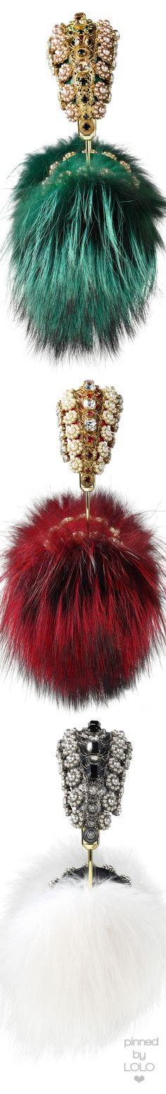 Dolce&Gabbana Embellished Headphones with fur | LOLO❤︎