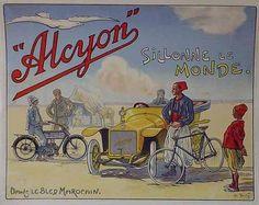 Motocyclette Alcyon. Dans le Bled marocain