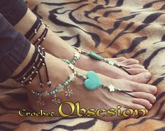 pulseras con corazon y piedras turquesa