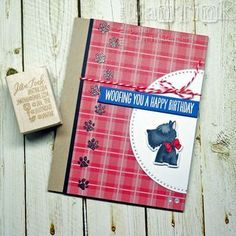 card with critters dog dogs plaid paper scotty dog Lucky Dog - My Favorite Things - MFTWSC275 MFT die-namics #mftstamps