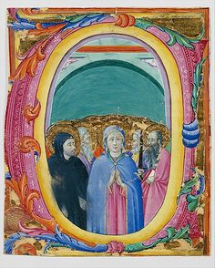 All Saints in an Initial E or O  Osservanza Master (Italian, Siena, active second quarter 15th century)