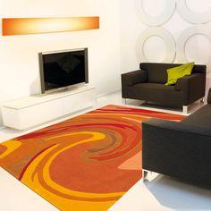 Woodall Handwoven Orange/Yellow Rug Ebern Designs Rug size: Rectangular 170 x Yellow Rug, Yellow Area Rugs, Orange Rugs, Red Rugs, Pink Rug, Orange Yellow, Silver Grey Rug, Black And Grey Rugs, Action Painting