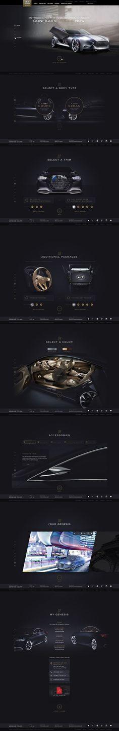 Unique Web Design, Hyundai Genesis #WebDesign #Design (http://www.pinterest.com/aldenchong/):