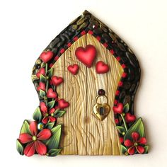 Valentine Fairy Door Pixie Portal Cupid Decoration by Claybykim