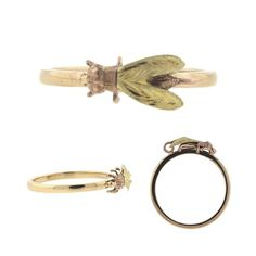 Antique Victorian Fly Ring, 14k Gold, $298.00