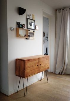 Side Tables – DANISH MODERN CABINET: Beech Side Drawer – a unique product by hardmandasein on DaWanda