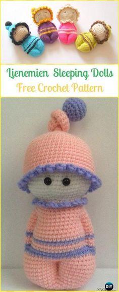 Crochet Lienemien Sleeping Dolls Free Pattern - Crochet Doll Toys Free Patterns
