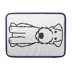 Kerry Blue Terrier Dog Cartoon Sleeves For MacBooks
