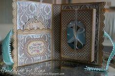 Handmade by Nina Macaulay- tealight holder card. #2
