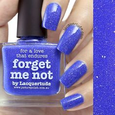 piCture pOlish : Picture Polish Forget Me Not Shop here- www.color4nails.com Worldwide shipping available