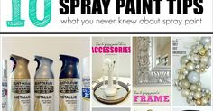 Spray paint is my favorite way to stretch my decorating budget, and over the years I've used it on just about everything (like it's gett...