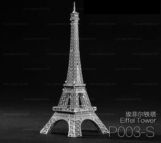 3D Metal Building Mini Model Puzzle Eiffel Tower by SimpleSmart