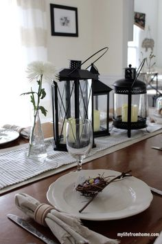 Easter Tablescape | My Life From Home | Spring Home Tour | by www.mylifefromhome.com