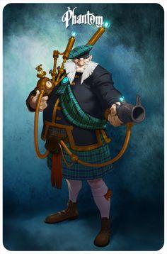 Steampunk Tendencies | The Phantom Society - Naïade #Digitalart #Characters #Steampunk