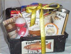 Tackle Box Mens Gift Basket Fun Fishing Gift Basket Men