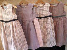 Petite Marin lovingly repurposes men's cotton dress shirts into classic caps, bonnets and tea dresses