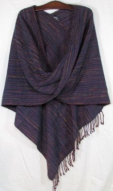 Twisted Shawl in Eggplant (#154-3)