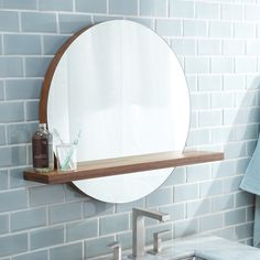 Buy the Native Trails Woven Strand Bamboo Direct. Shop for the Native Trails Woven Strand Bamboo Renewal x Solace Circular Mirror with Shelf and save. Bathroom Mirror With Shelf, Wall Mounted Mirror, Bathroom Shelves, Mirror Mirror, Bathroom Mirrors, Vanity Mirrors, Gold Bathroom, Bathroom Shop, Mosaic Bathroom